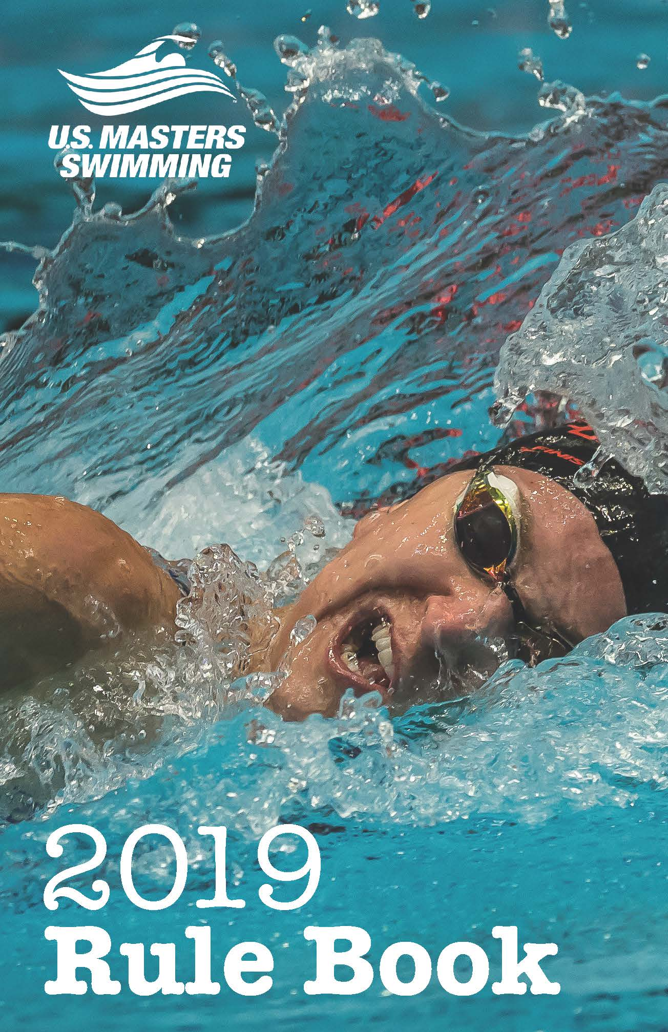Swimmer Breathing on Front Cover of 2019 USMS Rule Book
