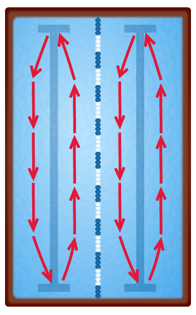 Circle Swim Diagram