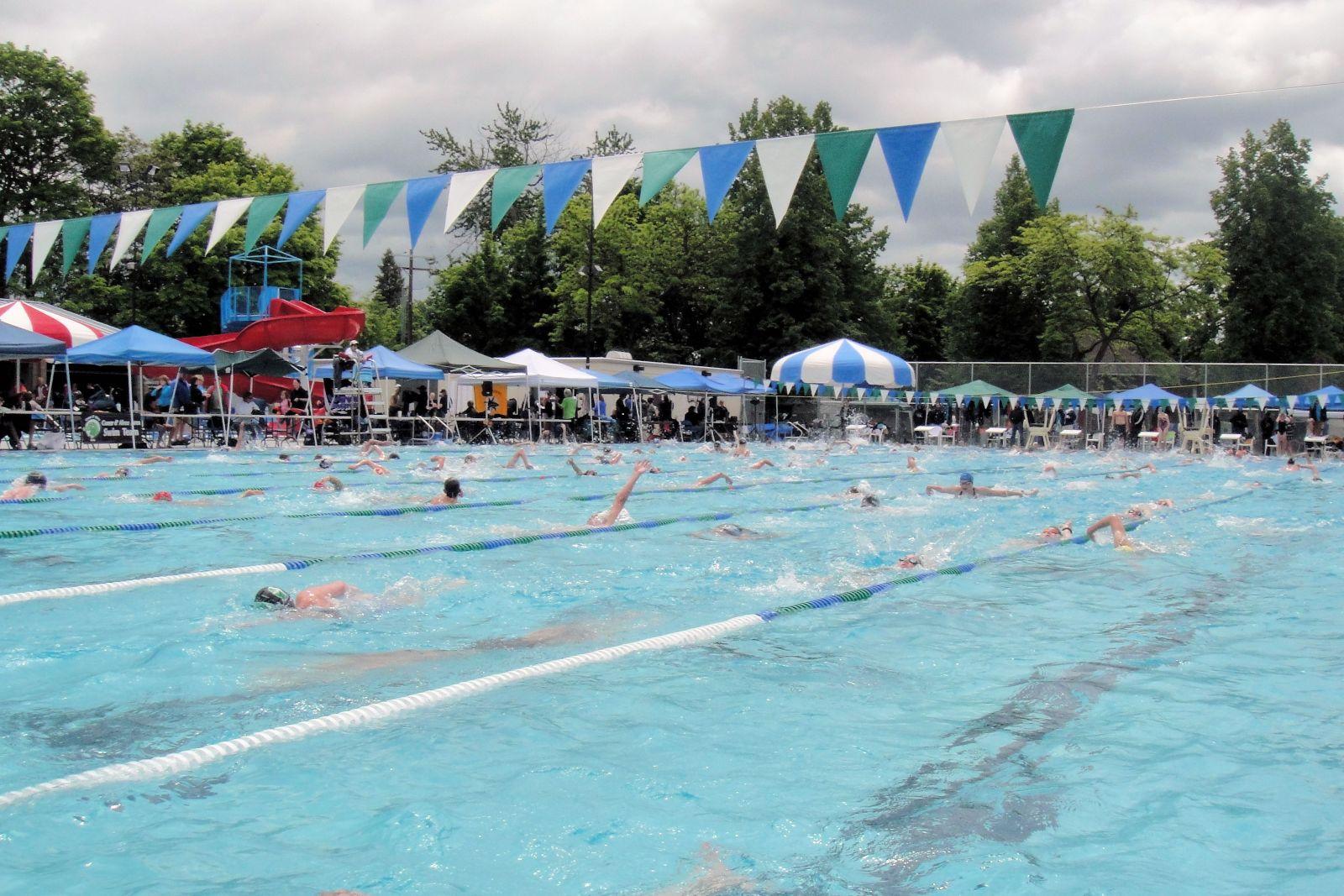 swim meet pool