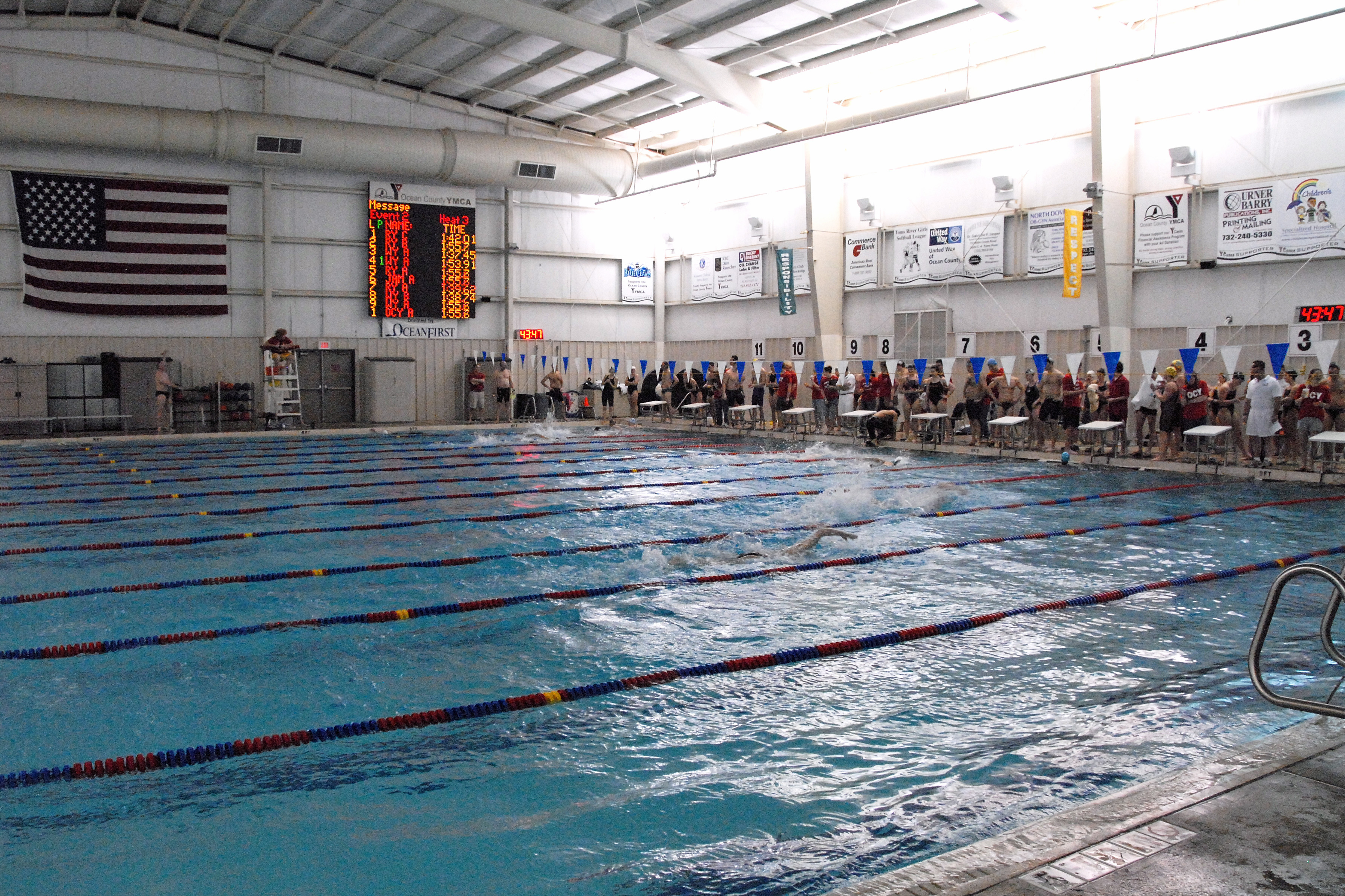 Competitive high school swimming workouts blog dandk for Garden ranch ymca pool