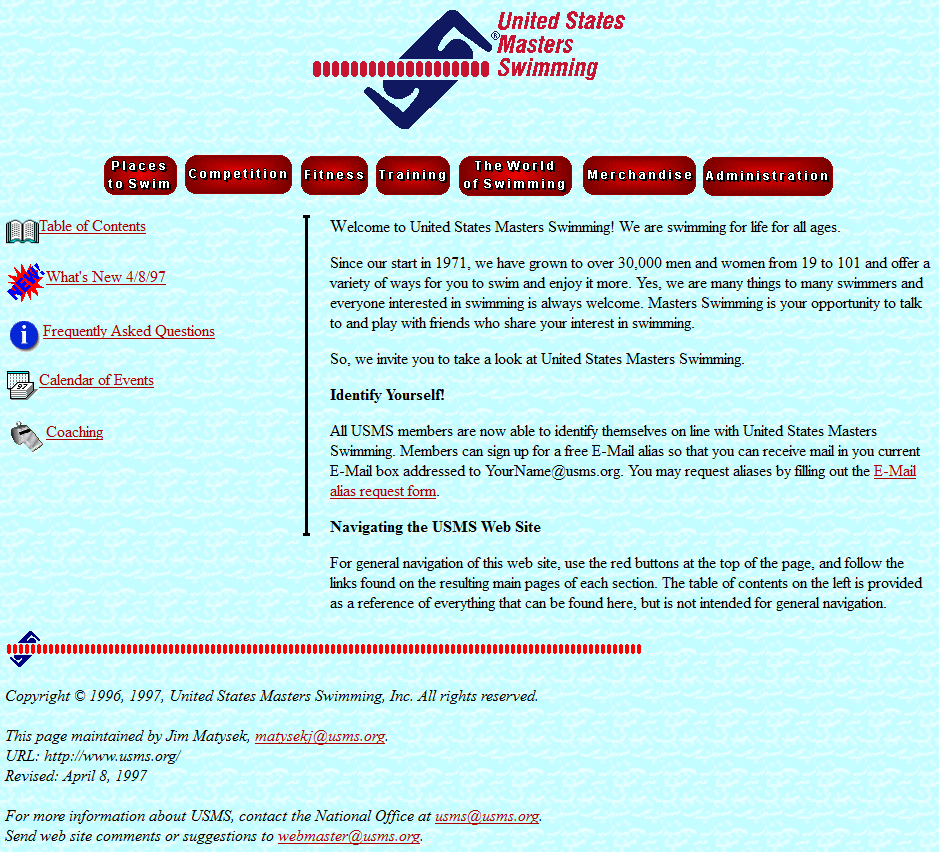 September, 1996 USMS website