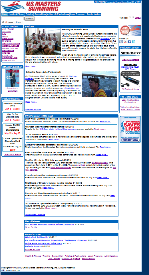 September, 2012 USMS Website