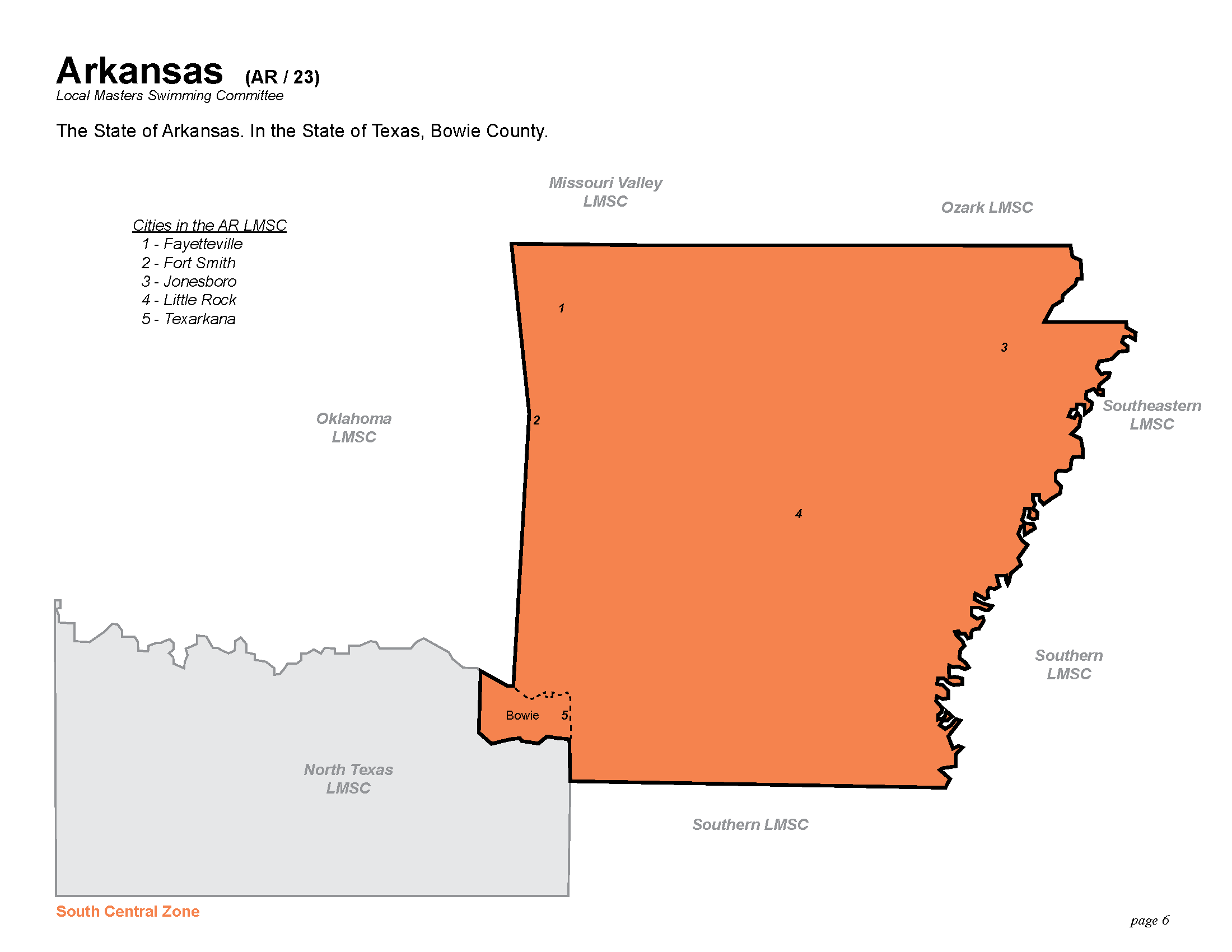 Geographic Region The State Of Arkansas In The State Of Texas The County Of Bowie