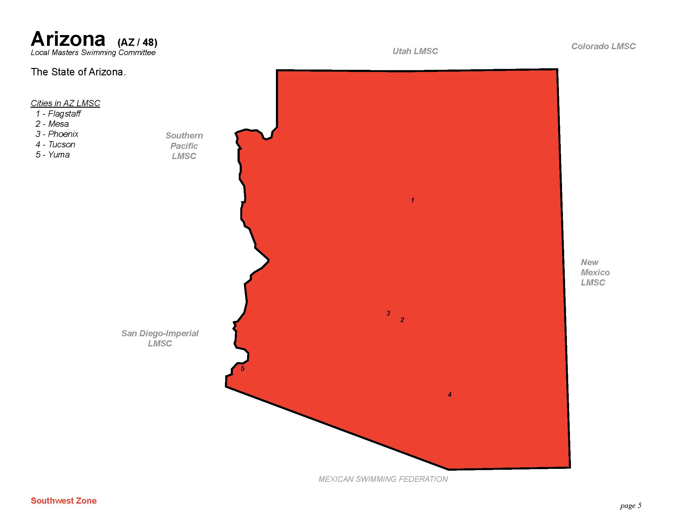 Geographic Region The State Of Arizona