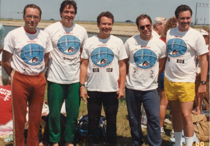 The Matysek brothers at the 1988 Chesapeake Bay Swim