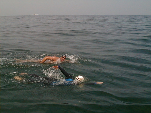 Rob Copeland during his English Channel crossing