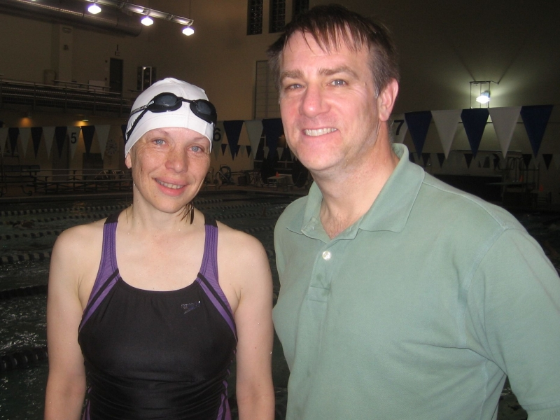Sharon Bloch and her coach, Hap Gentry, CSP Tideriders, St. Louis