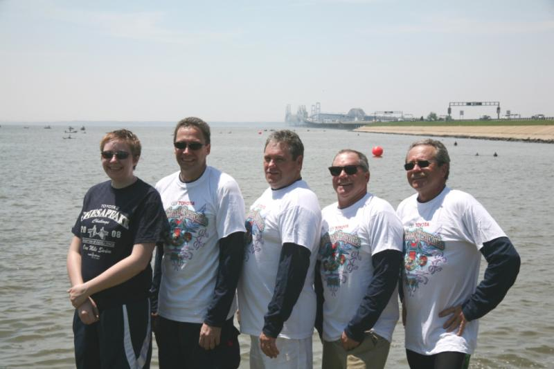 The Matysek family participants in the 2008 Chesapeake Bay Swim